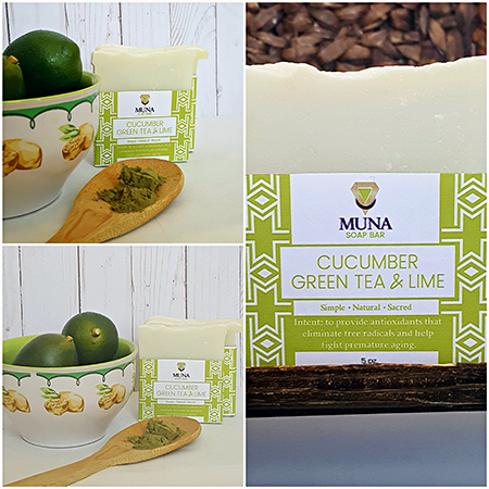 Cucumber & Green Tea Lime Soap Bar Collage